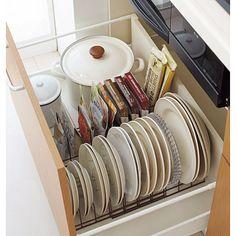 奥までしっかり引き出し食器整理ラック 通販- セシール(cecile)