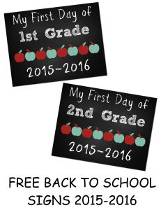 Free printable First Day of School Signs  Can it be time to talk about Back to School already?? Here are some free printable First Day of School Signs for those who are already gearing up for the next school season.