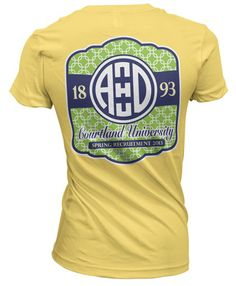 Alpha Xi Delta T-shirt with cute Monogram Print
