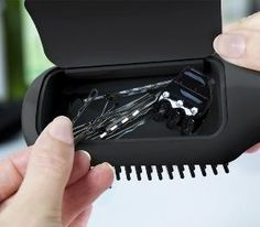 A hairbrush with storage... seriously, why hasn't anyone created this before?