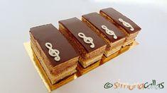 Prajitura Opera - Tort Opera - un desert rafinat - simonacallas Opera Cake, Sweets Recipes, Desserts, Something Sweet, Nutella, Sweet Tooth, Recipies, Candy, Baking