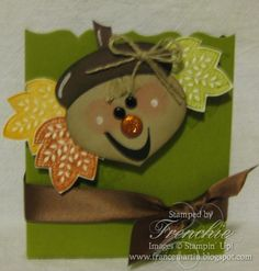 Stamp & Scrap with Frenchie: Stampin'Up! Ornament Punch become the Mrs. Acorn.