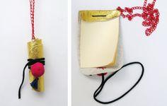 Lame, notebook necklace / Lame, defter kolye www.gigidukkan.com