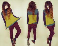 they call me redhead: autumn-coloured layers Fashion Hub, Indie Fashion, Fashion Outfits, Shaggy Long Hair, Boyfriend Sweater, Colored Pants, Sammy Dress, Wholesale Fashion, Winter Fashion