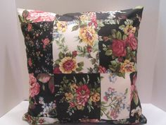 Pillow Covers  Pair 16 Inch  Shabby Chic Rose Floral by vertzvkv, $35.00