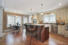 Luxury kitchens islands and kitchens on pinterest for Two level kitchen island