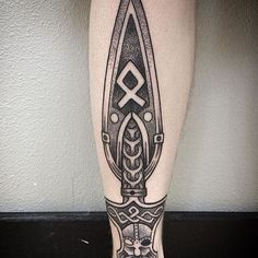 Viking Tattoo Designs, Ideas and Meanings - Tattoo Me Now Norse Mythology Tattoo, Norse Tattoo, Celtic Tattoos, Thai Tattoo, Maori Tattoos, Tribal Tattoos, Axe Tattoo, Tattoo Set, Viking Sword Tattoo