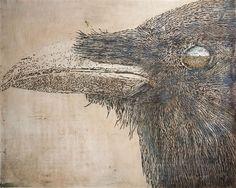 Blue Skies, by Debbie Hebert Drawing Animals, Animal Drawings, Blue Skies, Wildlife Art, Ravens, Sky, Bird, Artist, Projects
