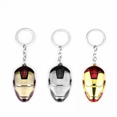 Marvel Super Hero The Avengers Iron Man Mask Metal Pendent Keychain Keyring High Quality Gift For Fans Llaveros Movie Jewelry The Avengers, Iron Man, Gadgets Online, Fans, Jewelry Sets, Marvel, Personalized Items, Superhero, Metal