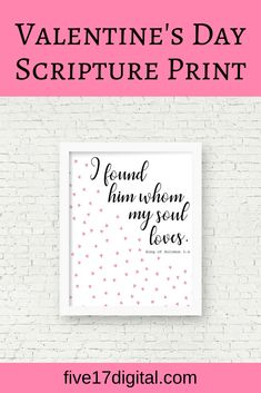 This heart Bible verse print of the Scripture from Song of Solomon 3:4 is a perfect romantic gift, wedding decoration, or wall art in the Christian home.