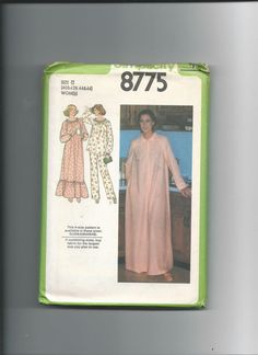 Simplicity 8775 Women Nightgown Robe and by VintageSewingShoppe