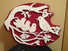 Panneau en chantournage #panneau #oiseaux #bois #chantournage #wood #scrollsaw #bird