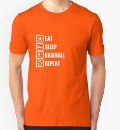 Eat Sleep Baseball Repeat T-Shirts