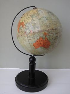 An English 6 inch terrestrial table globe on by RubydoDesigns