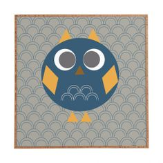 Vy La Geo Owl Solo Blue Framed Wall Art | DENY Designs Home Accessories