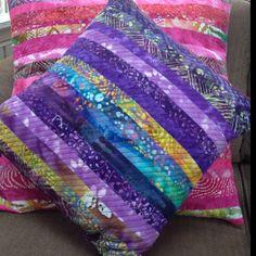 Batik quilted pillows