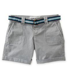 Belted Bermuda Shorts - Aeropostale