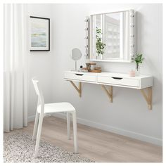 Excellent Photos EKBY ALEX / EKBY VALTER wall shelf with drawers - white, birch - IKEA Ideas Investing in a well-designed sofa is just a major decision and not one to produce lightly. Ikea Wall Shelves, Ikea Ekby, Bedroom Vanity, Bedroom Design, Wall Shelf With Drawer, Home Decor, Room Decor, Room Ideas Bedroom, Apartment Decor