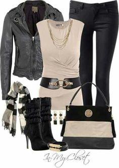 Shirt, jeans, purse and belt!
