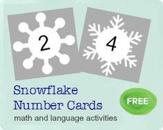 A free snowflake printable for math and language activities, with lots of ideas for how to use them for hands-on learning.