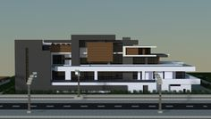 A large modern house i made in minecraft.