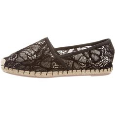 Pre-owned Valentino Floral Lace Espadrilles ($345) ❤ liked on Polyvore featuring shoes and sandals