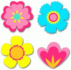 Silhouette Design Store - View Design build a garden - 4 flowers Felt Flowers, Paper Flowers, Flower Patterns, Flower Designs, Quilting Projects, Craft Projects, Silhouette Online Store, Baby Clip Art, Flower Clipart