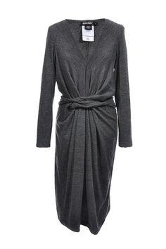 #DKNY | Drapiertes #Strickkleid aus einem Wollmix, Gr. S | DKNY | mymint-shop.com | Ihr Online Shop für #Secondhand / #Vintage #Designerkleidung & Accessoires bis zu -90% vom Neupreis das ganze Jahr #mymint