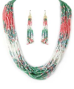 Look what I found on #zulily! Gold & Watermelon Bead Multistrand Necklace & Drop Earrings #zulilyfinds