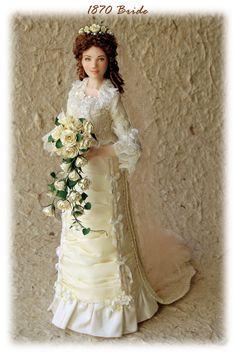 1870 Bride  Porcelain Doll by Elisa Fenoglio