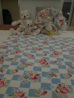 BN Rare Discontinued Cath Kidston Cotton Duck Remnant In Daisy Rose Check