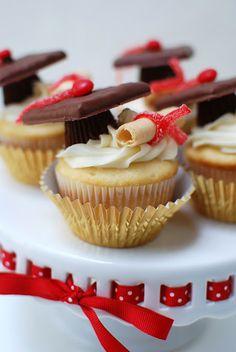 Graduation Party Cupcakes! #graduation #cupcakes