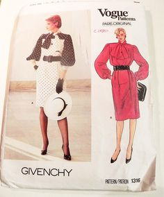 1980s Givenchy Yoke Full Bishop sleeves Cocktail Dress bow