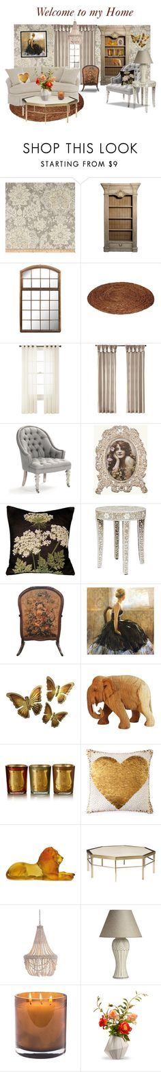 """""""Welcome to my home"""" by glitterlady4 ❤ liked on Polyvore featuring interior, interiors, interior design, home, home decor, interior decorating, Magnolia Home, Royal Velvet, Pillow Decor and Cire Trudon"""
