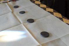 this is great!   do it yourself ironing 'board' with magnets to sit atop the dryer!   brilliant!