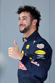 Daniel Ricciardo Barcelona 2016 - great bad hair! HA!