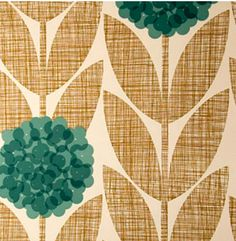 vintage wallpaper--or cut burlap and pretty blue circles of soemthing else...