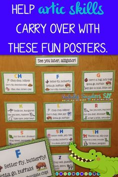 SLPs, sneak in some carry over articulation practice at the end of your sessions with these adorable posters from Natalie Snyders!