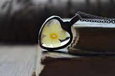 terrarium necklacenecklace with real flowernecklace by ZokaKurylov