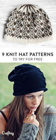 These totally free easy knit hat patterns will satisfy your knitting needs this fall.