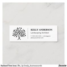 Stylized Tree Icon | Tree Trimming Service Mini Business Card