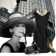 """Black Dress """"Breakfast at Tiffany's"""", created by youmakemehappy7 on Polyvore"""