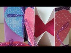 Heart-Card by Craftingeek Accordion Book, Origami Videos, Diy Gift Box, Heart Cards, Card Tutorials, Scrapbook Albums, Diy Cards, Boyfriend Gifts, Teacher Gifts