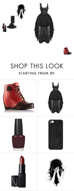 """""""happy halloween"""" by kennedy-daigle ❤ liked on Polyvore featuring SOREL, OPI, BaubleBar, NARS Cosmetics, rag & bone, women's clothing, women, female, woman and misses"""