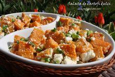 Reteta culinara Salata de cartofi dulci din categoriile Aperitive, Aperitive, Mancaruri cu legume si zarzavaturi, Salate, Salate, Salate. Cum sa faci Salata de cartofi dulci