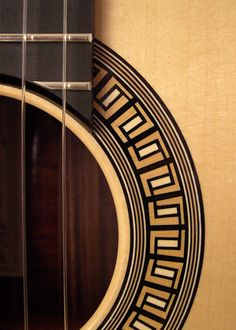 Gregory Miller Classical Guitar Rosette - Holly, Ebony and Boxwood.
