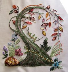 Lovely example of Brazilian embroidery
