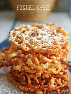Authentic Carnival Funnel Cake: Funnel cakes can be found at fairs, carnivals and theme parks all summer long. Sure to bring on fun memories, make your own fried dough topped with a dusting of sugar.