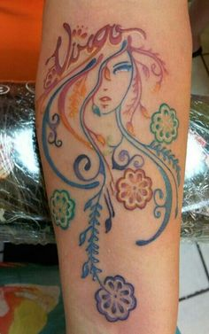 virgo zodiac tattoo on arm