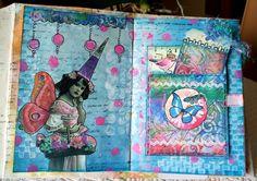 Art Journal dans le projet 21 SECRETS.  Les premières pages (WIP)